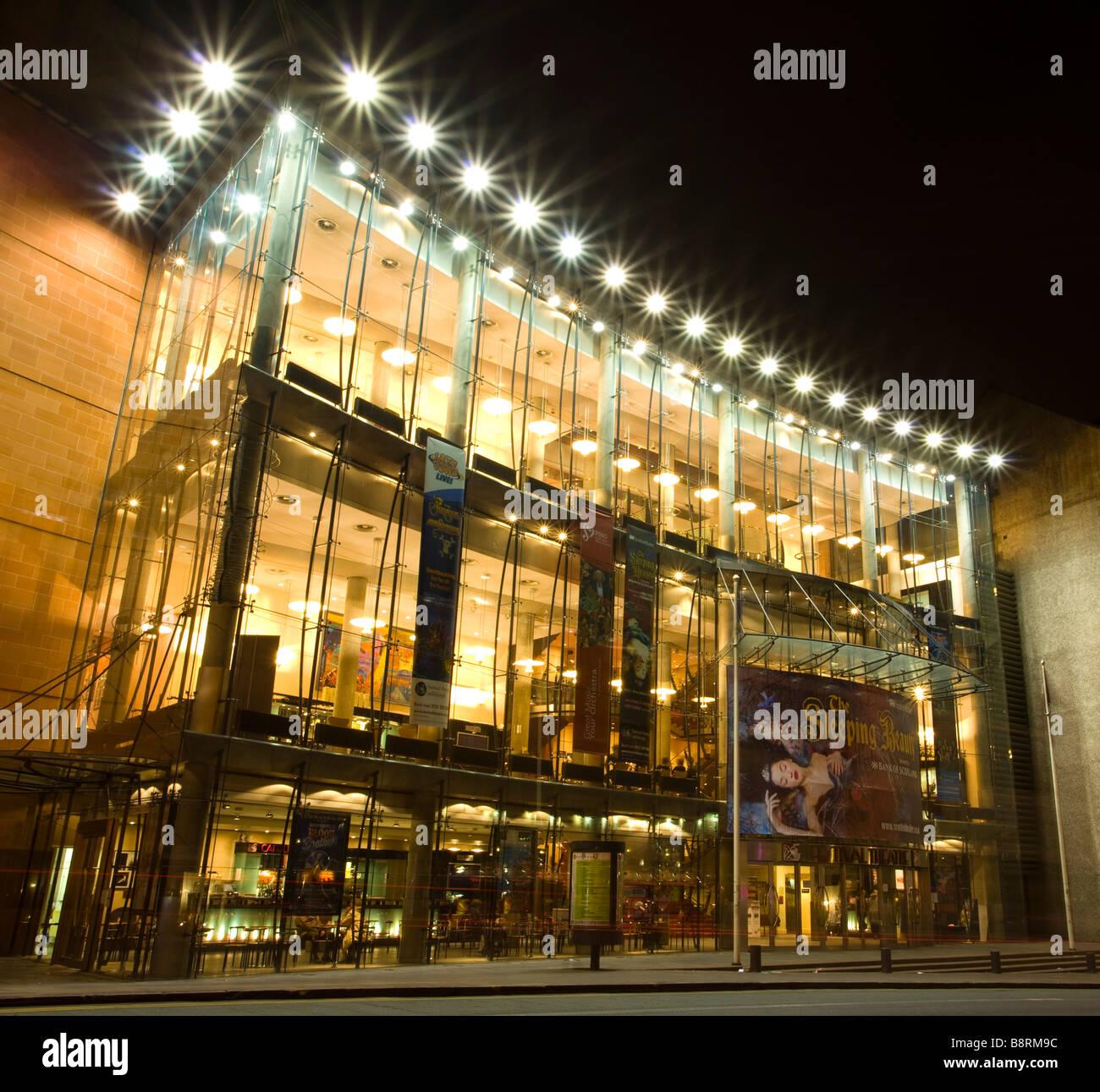 Scotland Edinburgh Festival Theatre The modern glass facade of the Festival Theatre - Stock Image