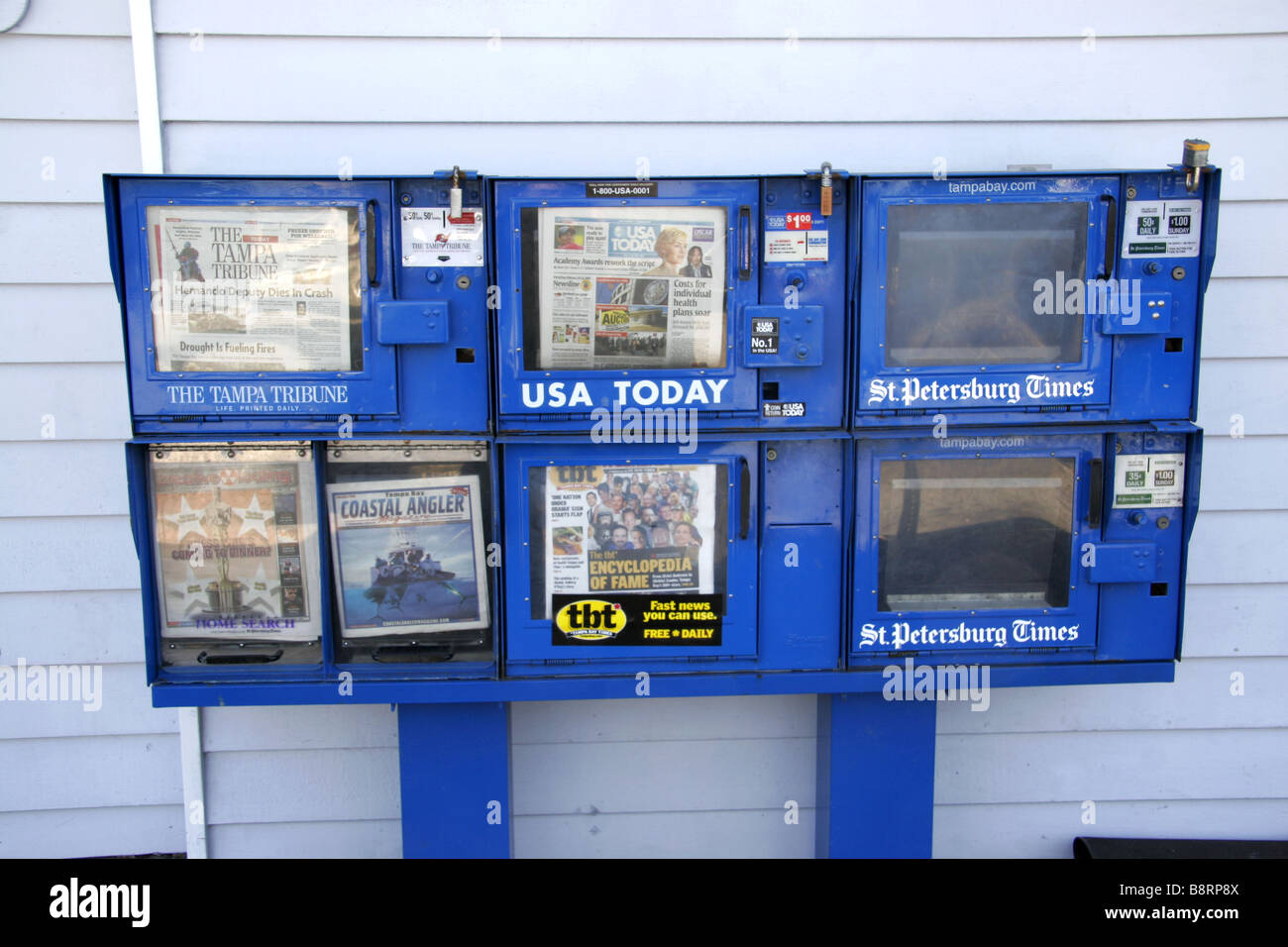 American newspaper dispensor - Stock Image
