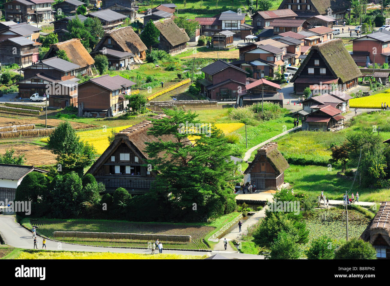 Shirakawa-go, Gifu Prefecture, Japan - Stock Image