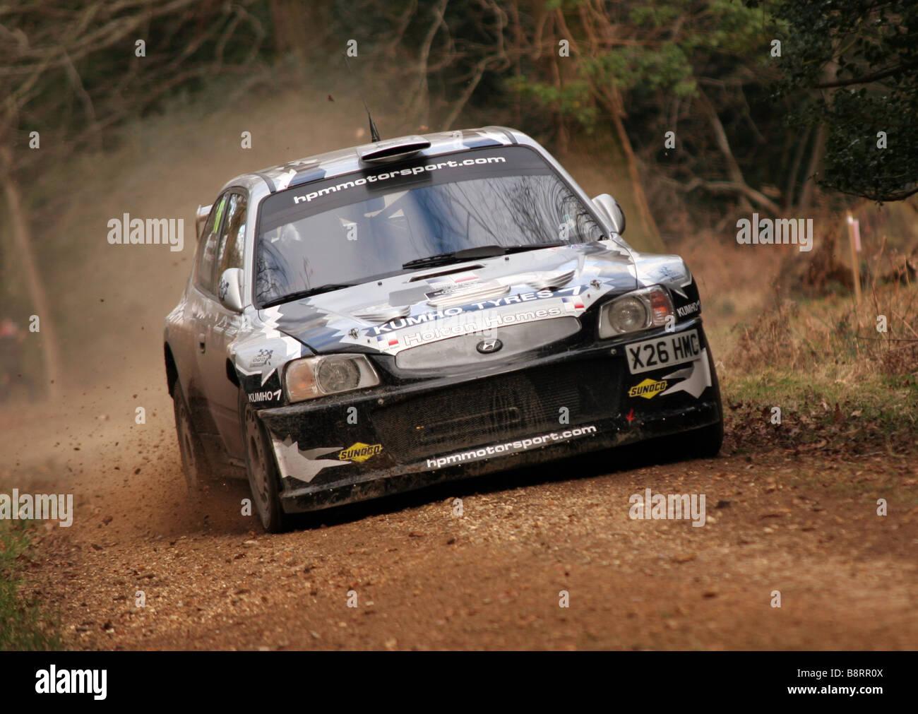 Hyundai Accent Rally Car Speed Stock Photos Hyundai Accent Rally