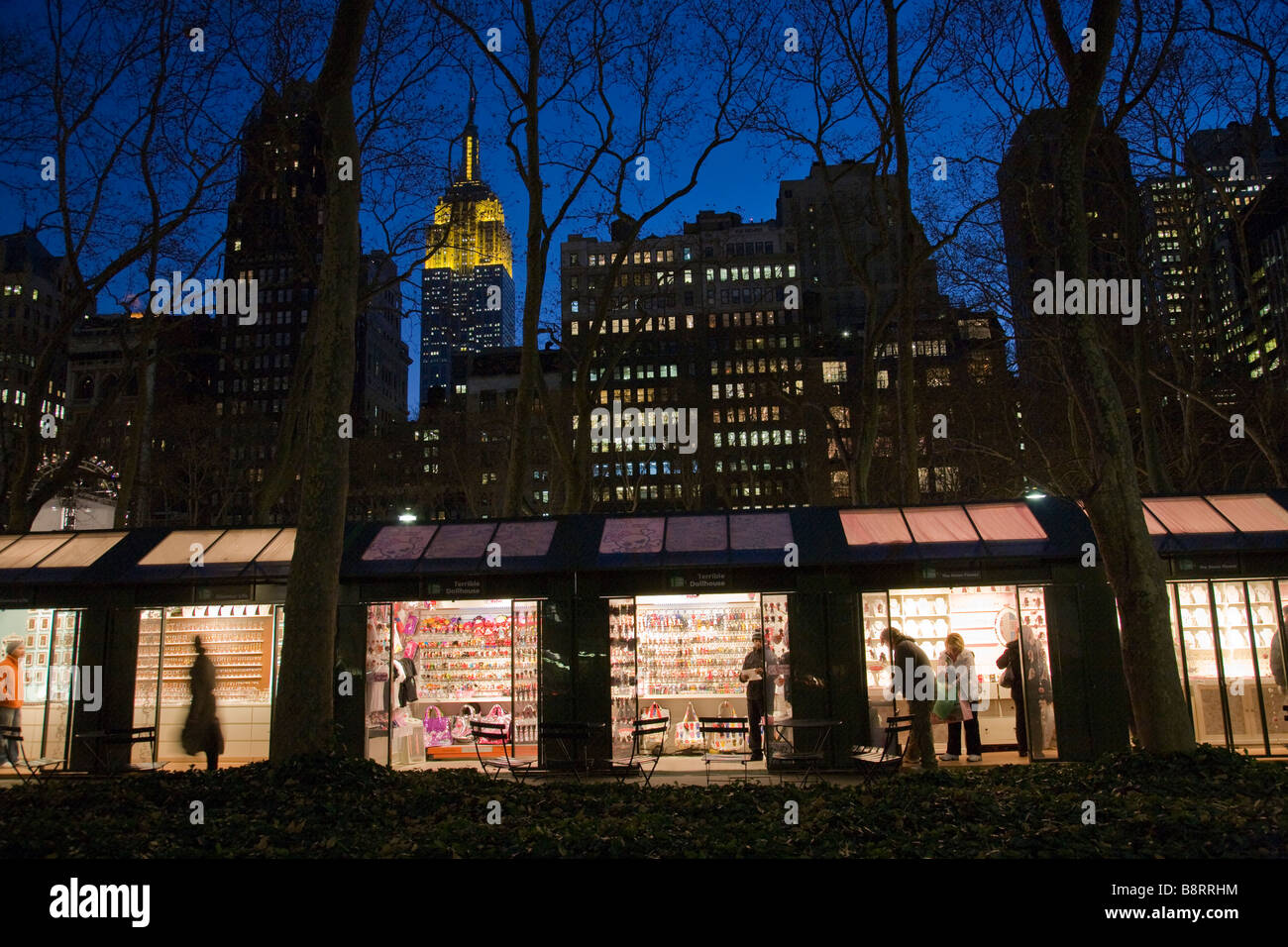 Holiday Christmas Market in Bryant Park, NYC Stock Photo: 22651040 ...