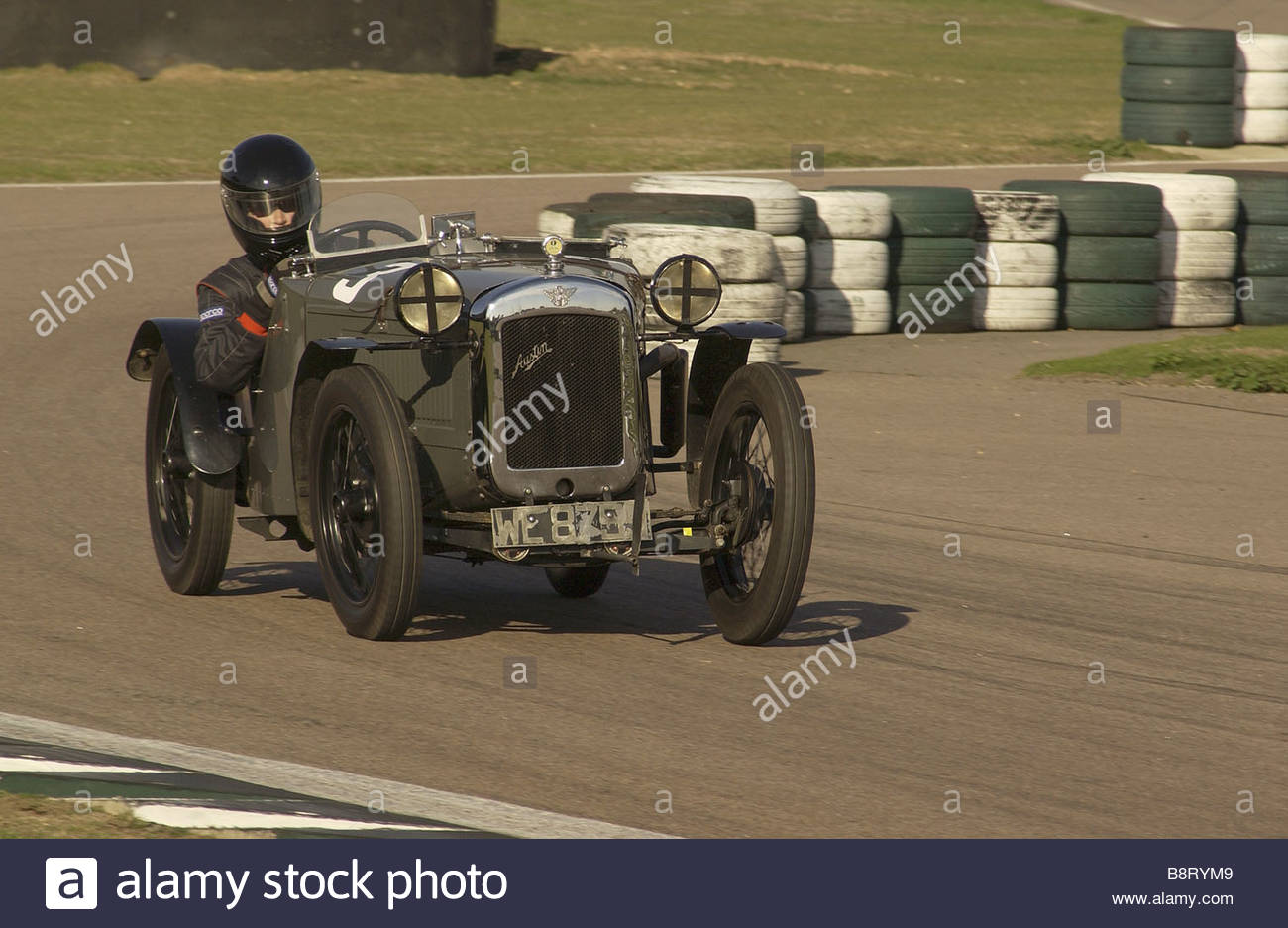 Vintage Pre War Austin Sports Car on a Summers Day in England - Stock Image