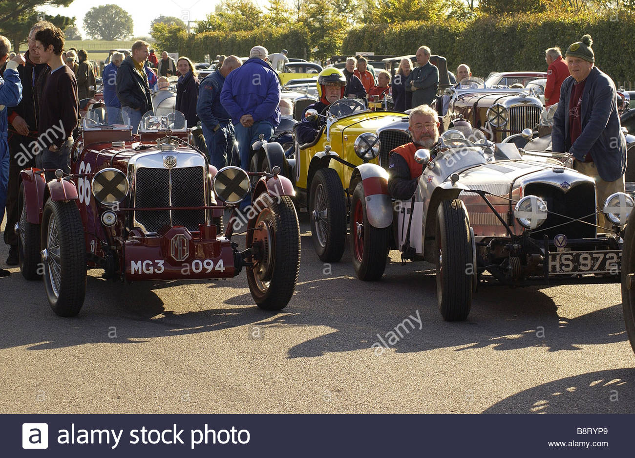 Vintage Sports Cars on a Summers Day in England - Stock Image