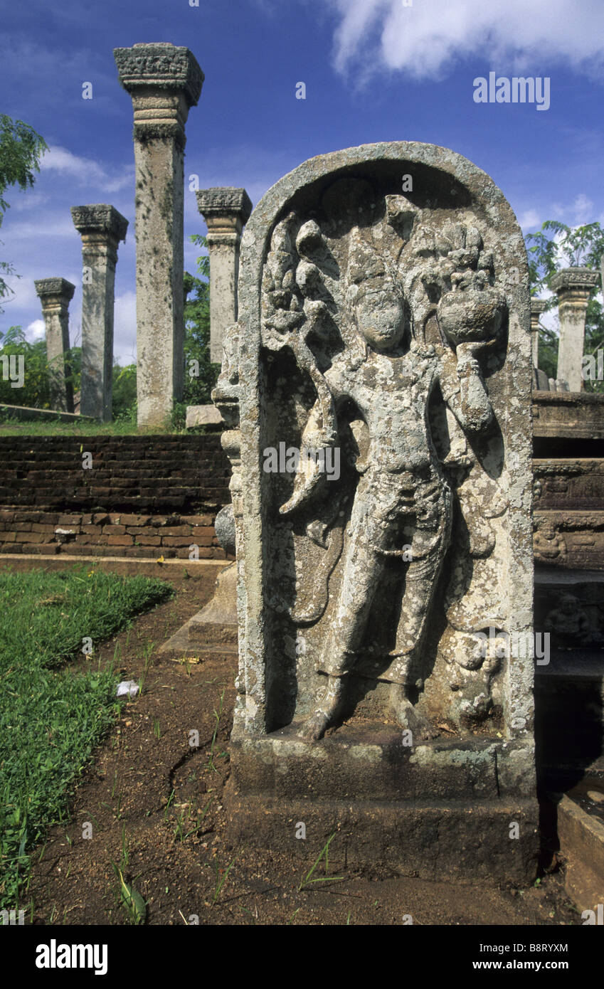 antique statue at Mahasen palace in Anuradhapura, Sri Lanka - Stock Image