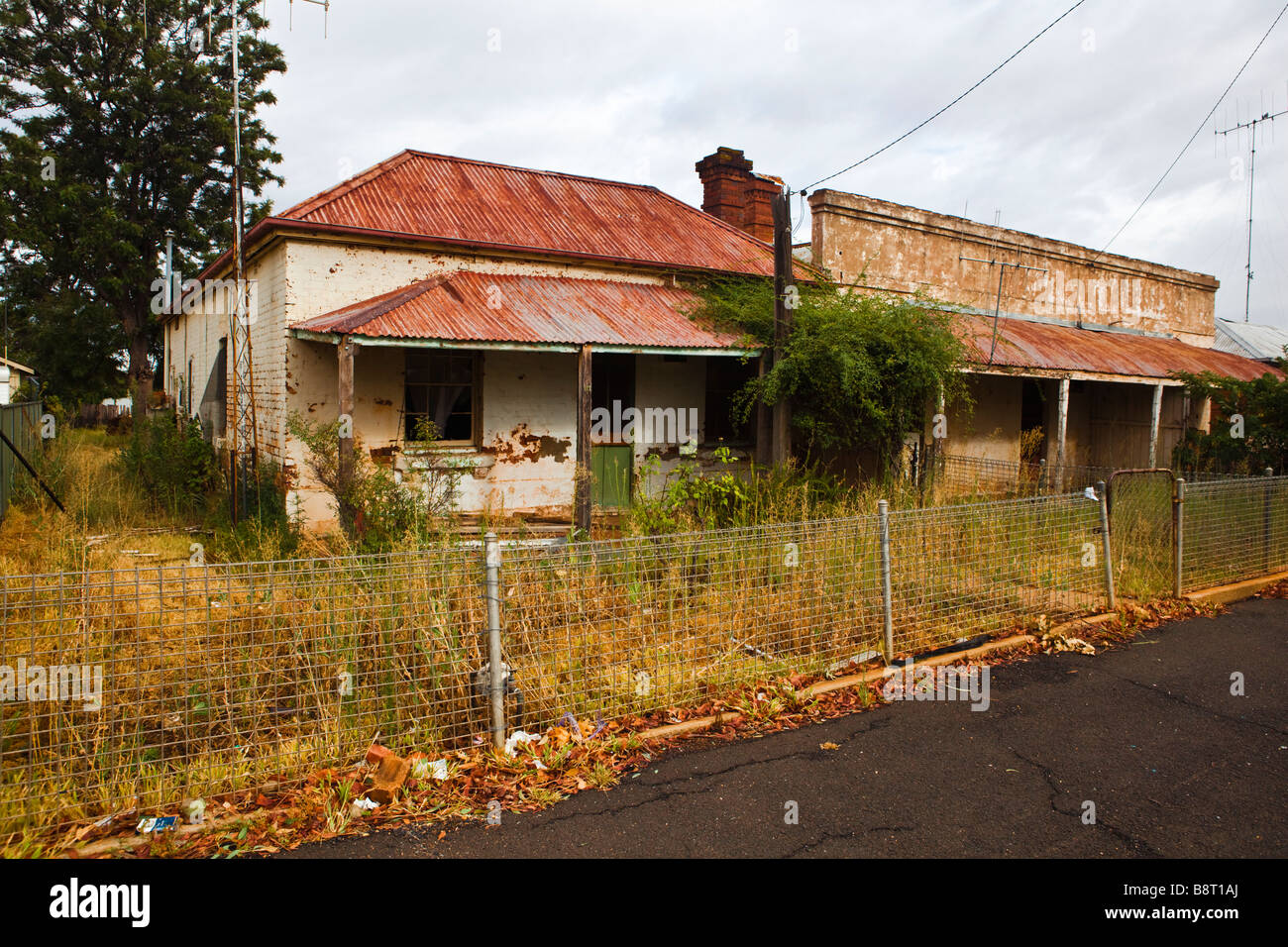 Abandoned houses in Dubbo, NSW Stock Photo