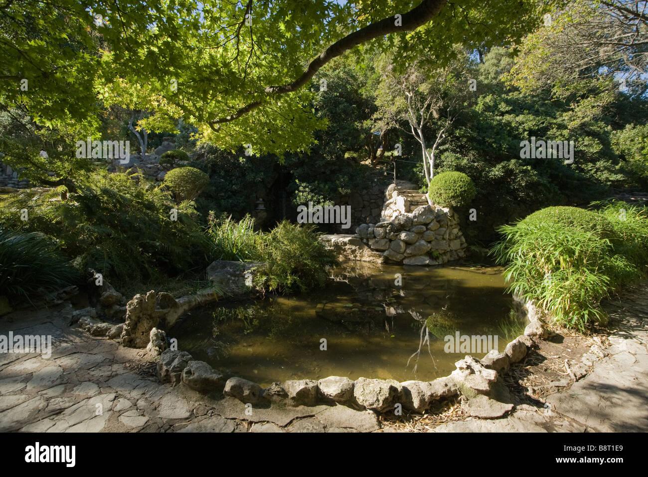 Austin Texas Taniguchi Japanese Garden In The Zilker Park Stock