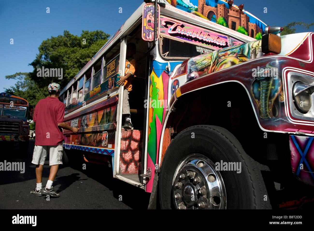 Traditional Bus Diablo Rojo Panama Stock Photos Traditional Bus