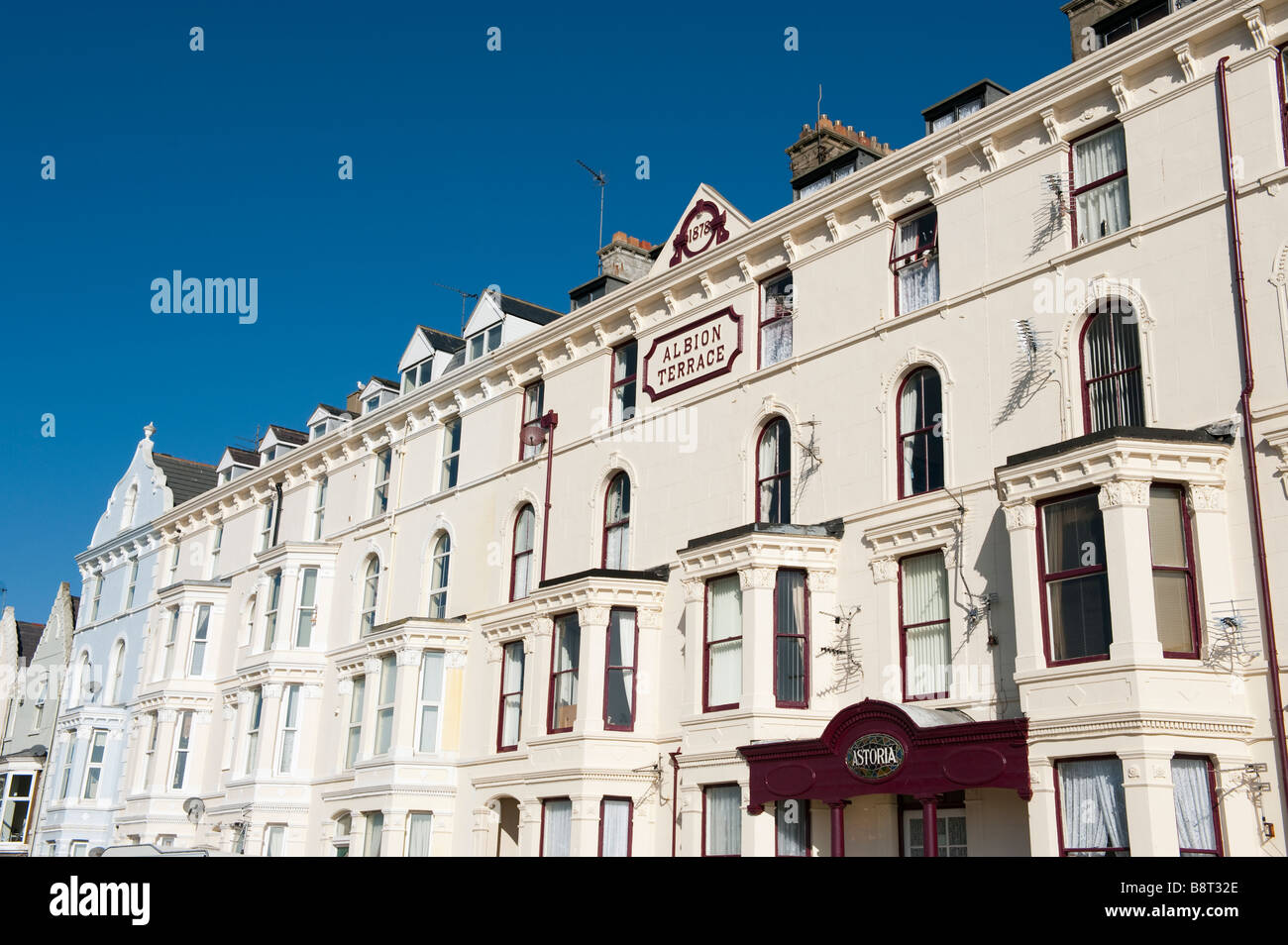 Yorkshire Terrace: Bridlington Building Stock Photos & Bridlington Building