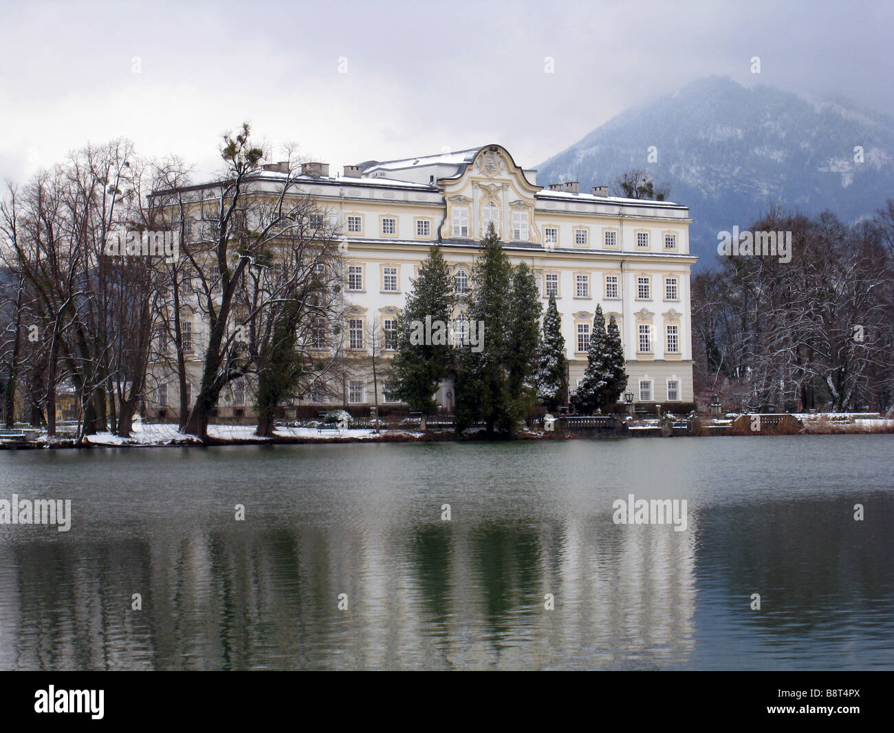 Von Trapp family house from The Sound of Music in Salzburg, Austria - Stock Image