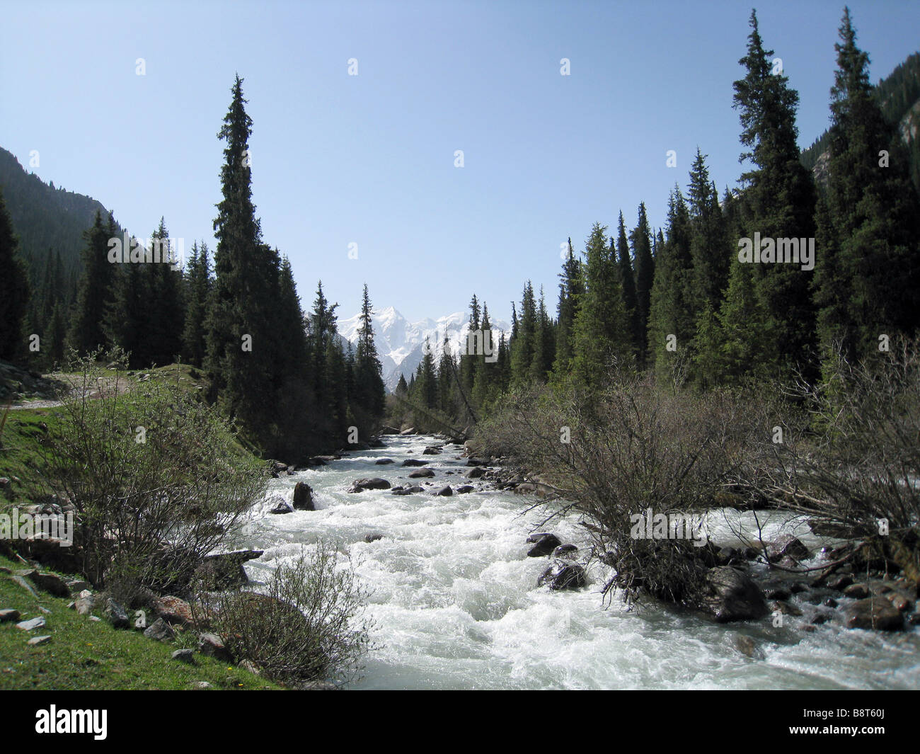 Stream at Ala-arch gorge, Kyrgystan - Stock Image