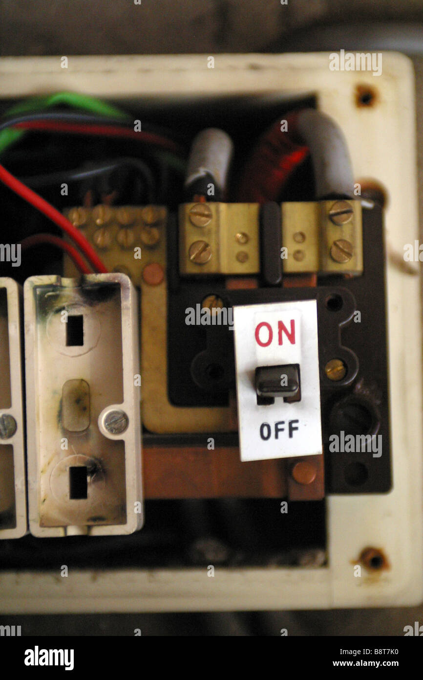 Fuse Stock Photos Images Alamy Split Load Consumer Unit Wiring Diagram Old Style Electric Wire On Off Switch Isolator Image
