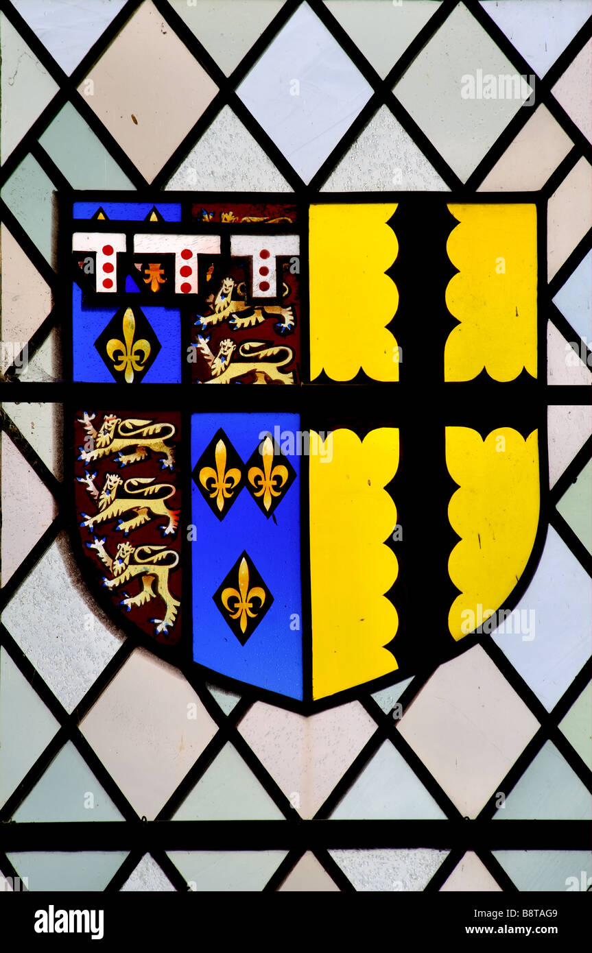 Arms of Edward of Norwich, 2nd Duke of York, 1374-1415 - Stock Image