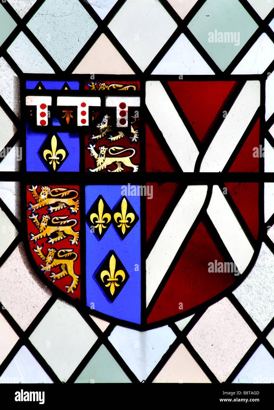Arms of Richard, 3rd Duke of York, 1411-1460 - Stock Image