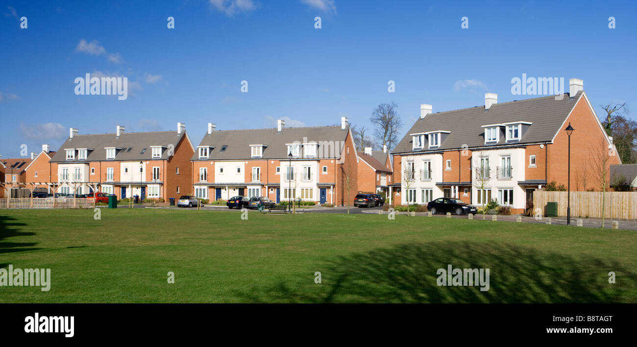 Newly built housing estate. UK - Stock Image