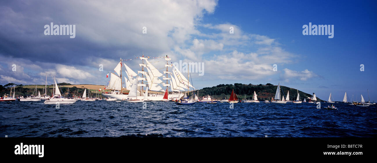 Start of the The Tall Ships Race 2008, Falmouth, Cornwall, UK - Stock Image