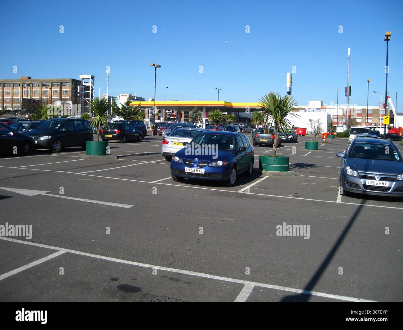 Royal Leisure Car Park At Acton London England Uk Stock