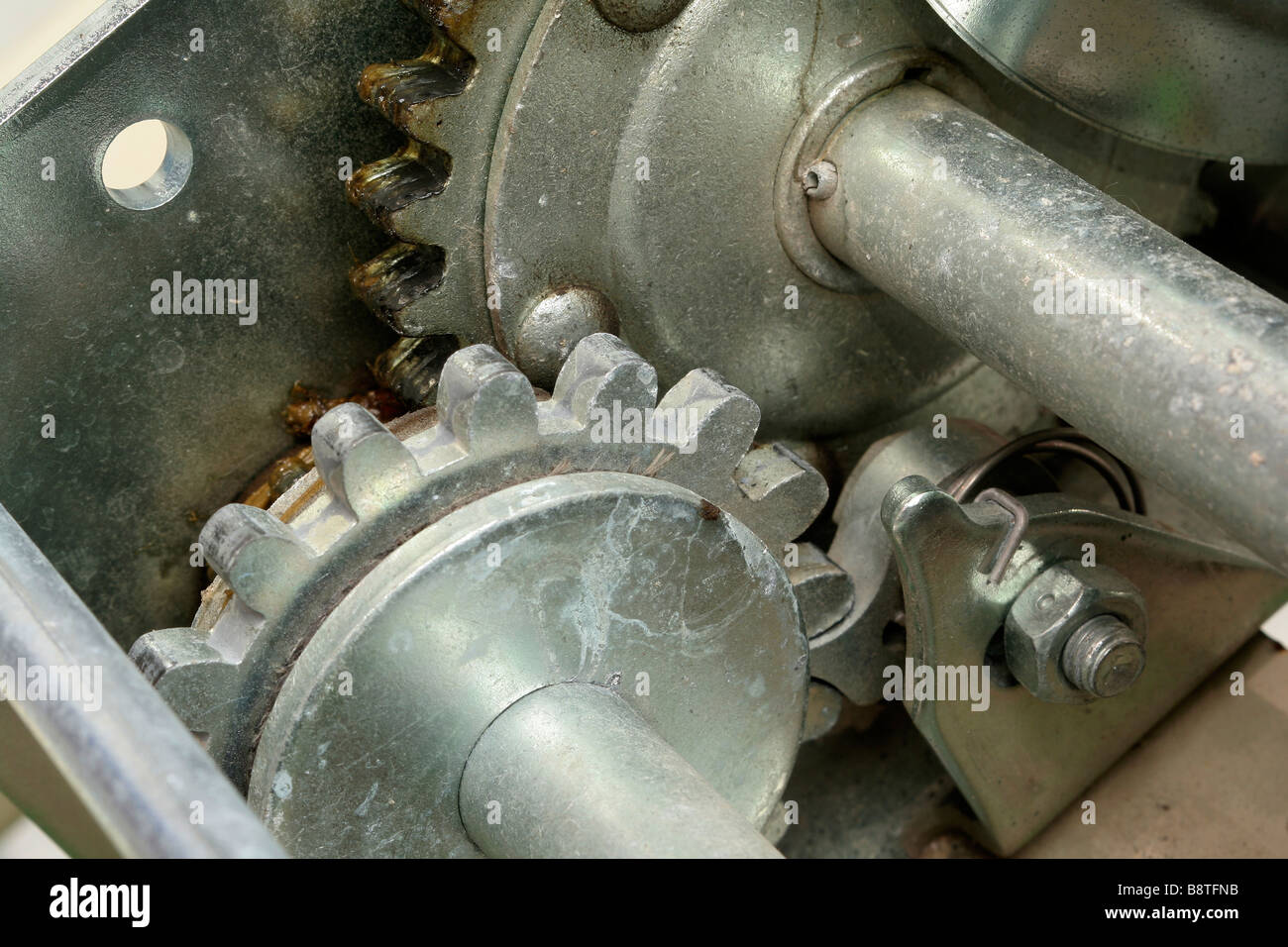 Gear train and ratchet in winch Stock Photo: 22666823 - Alamy