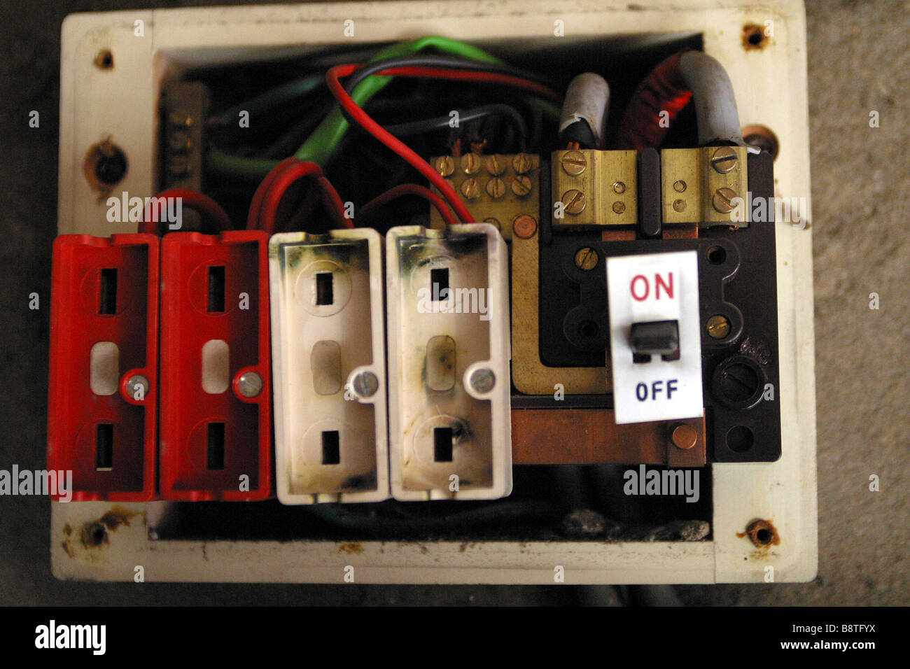old electrical fuse box stock photos old electrical fuse box stock rh alamy com old fashioned fuse box uk old style fuse box tripped