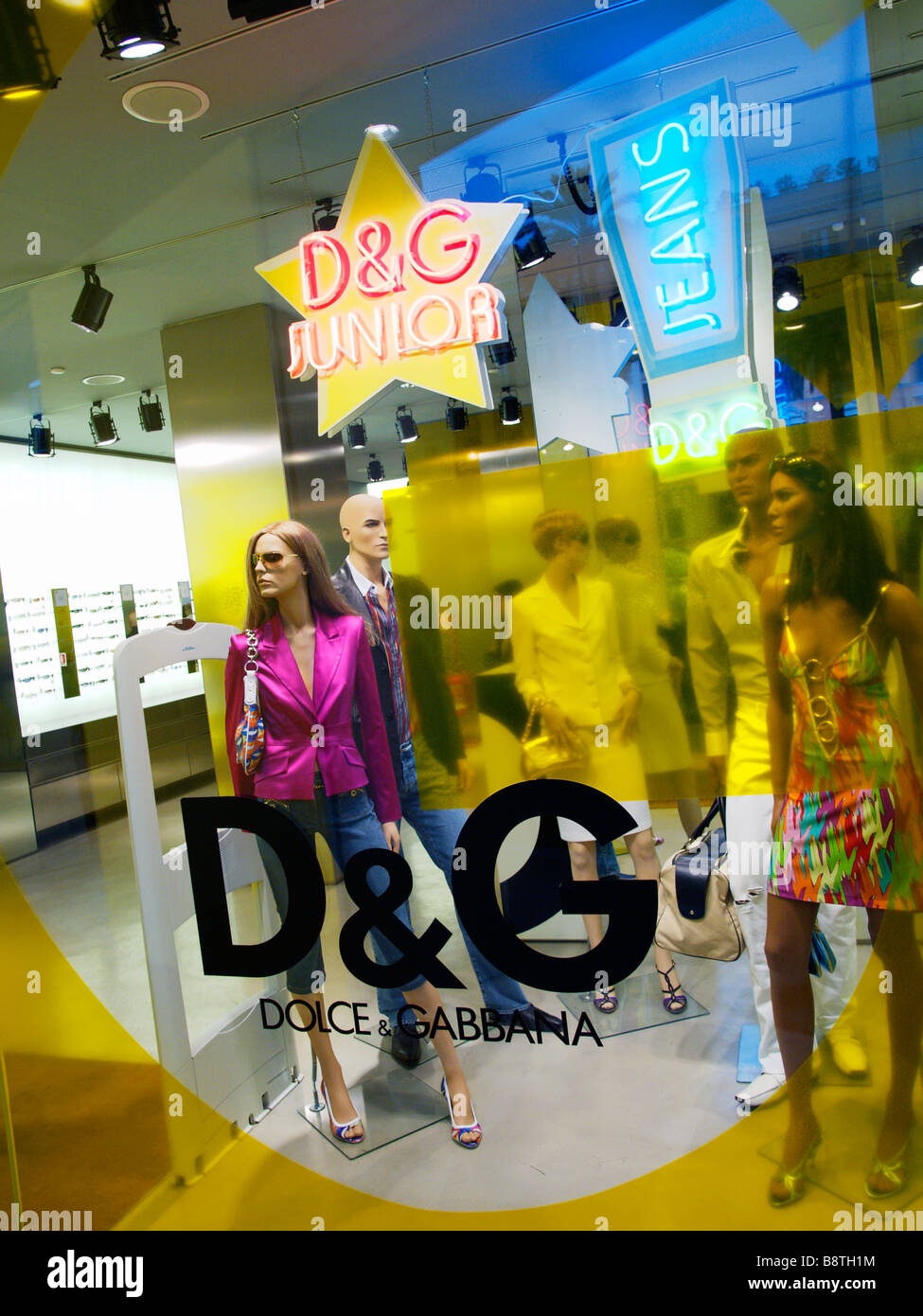 Dolce Gabbana Junior designer fashion store window Piazza di Spagna Roma Lazio Italy - Stock Image