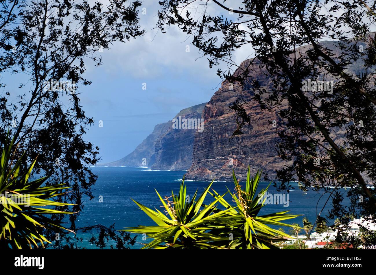 Los Gigantes Tenerife Canary Islands Spain - Stock Image