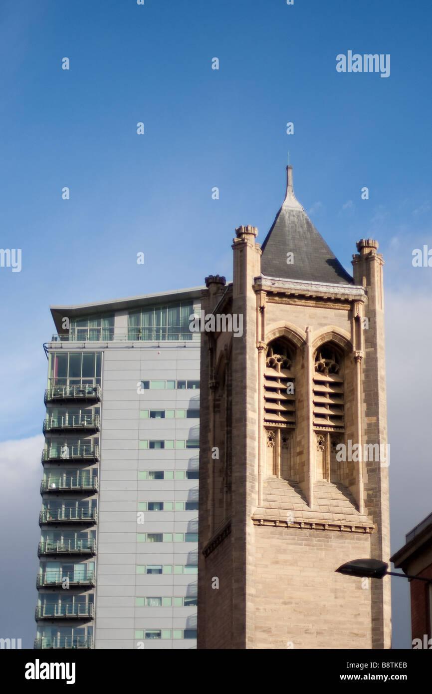 Leeds Skyline, West Yorkshire, England - Stock Image