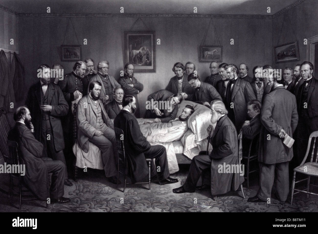 Death Of Lincoln Print Showing Abraham Lincoln On His