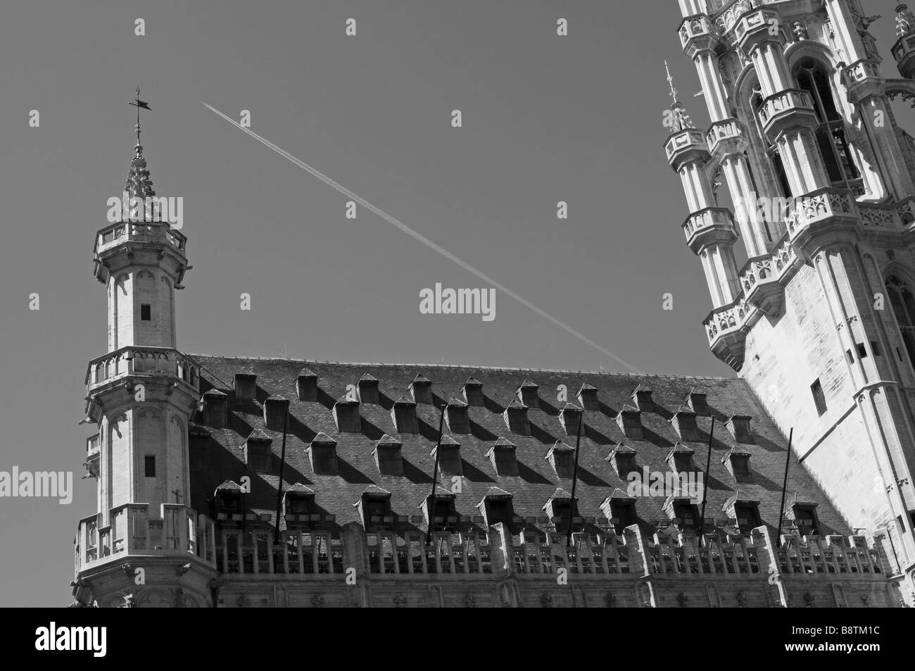 Roof of Town Hall  building, Grand Place, Brussels, Brussels, Belgium, Europa - Stock Image