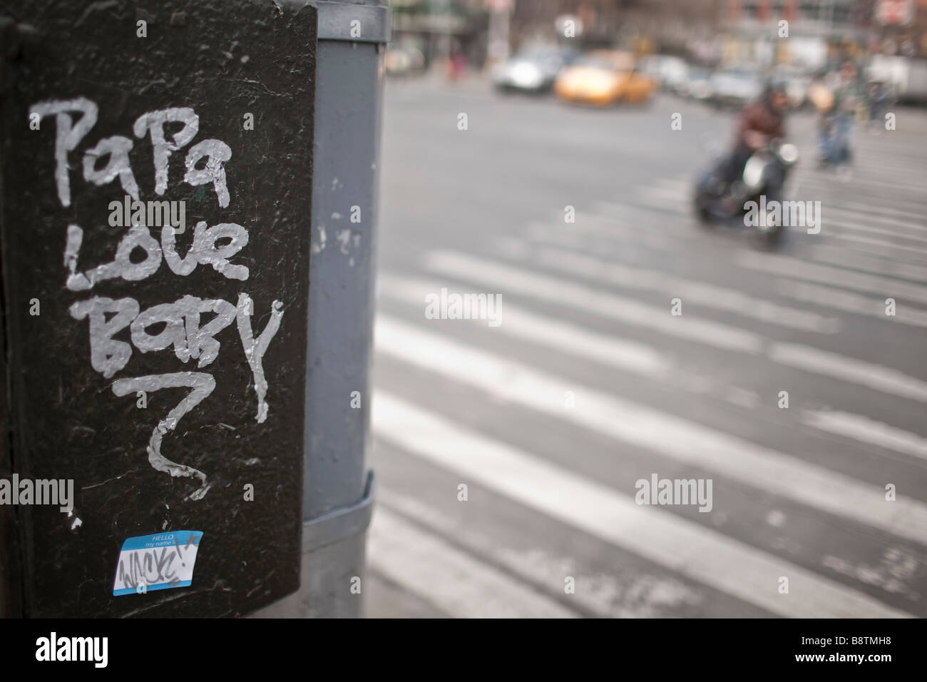'papa loves baby' graf in new york - Stock Image