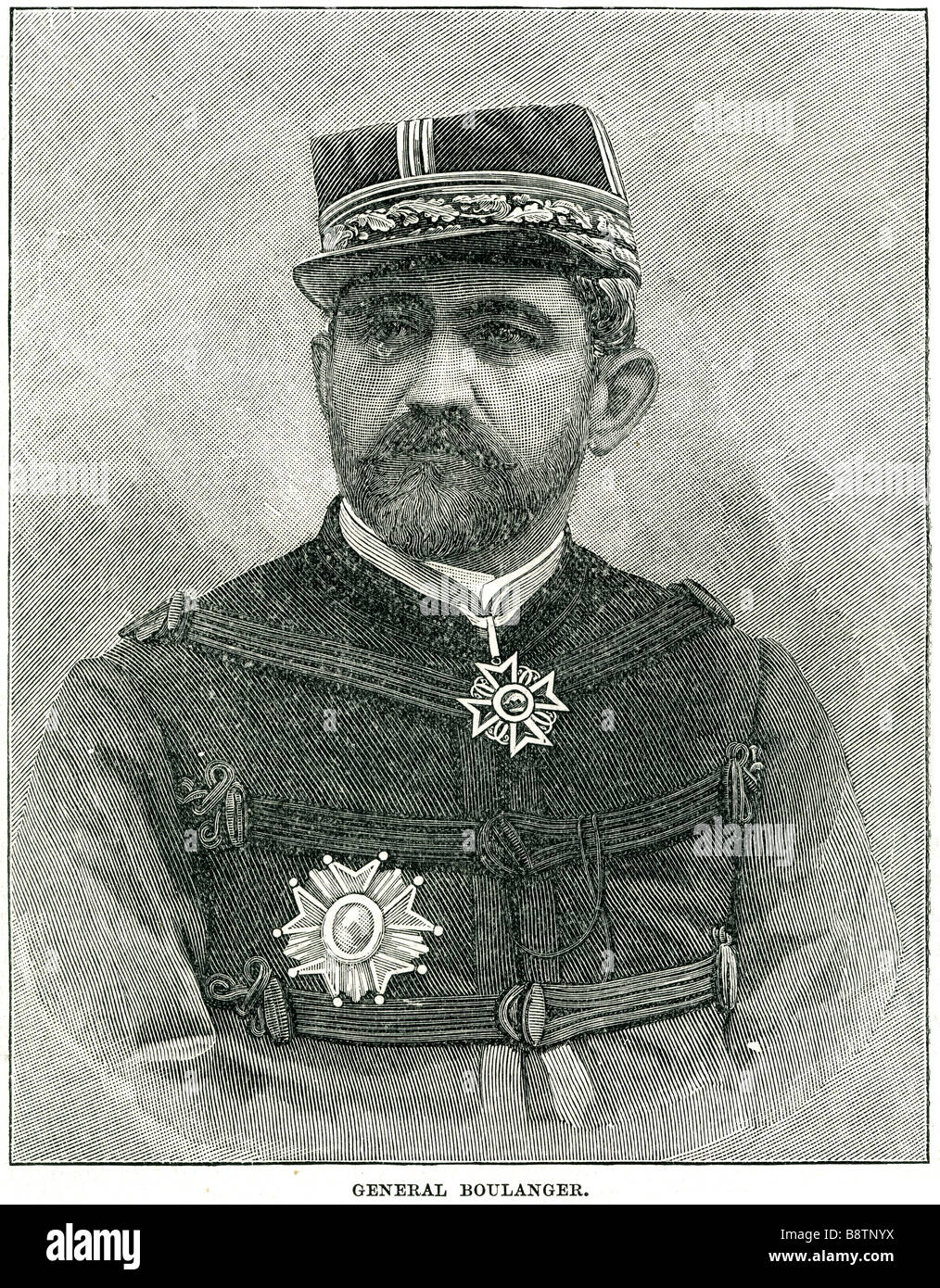 General Georges Ernest Jean-Marie Boulanger 1837 1891 French  reactionary politician - Stock Image