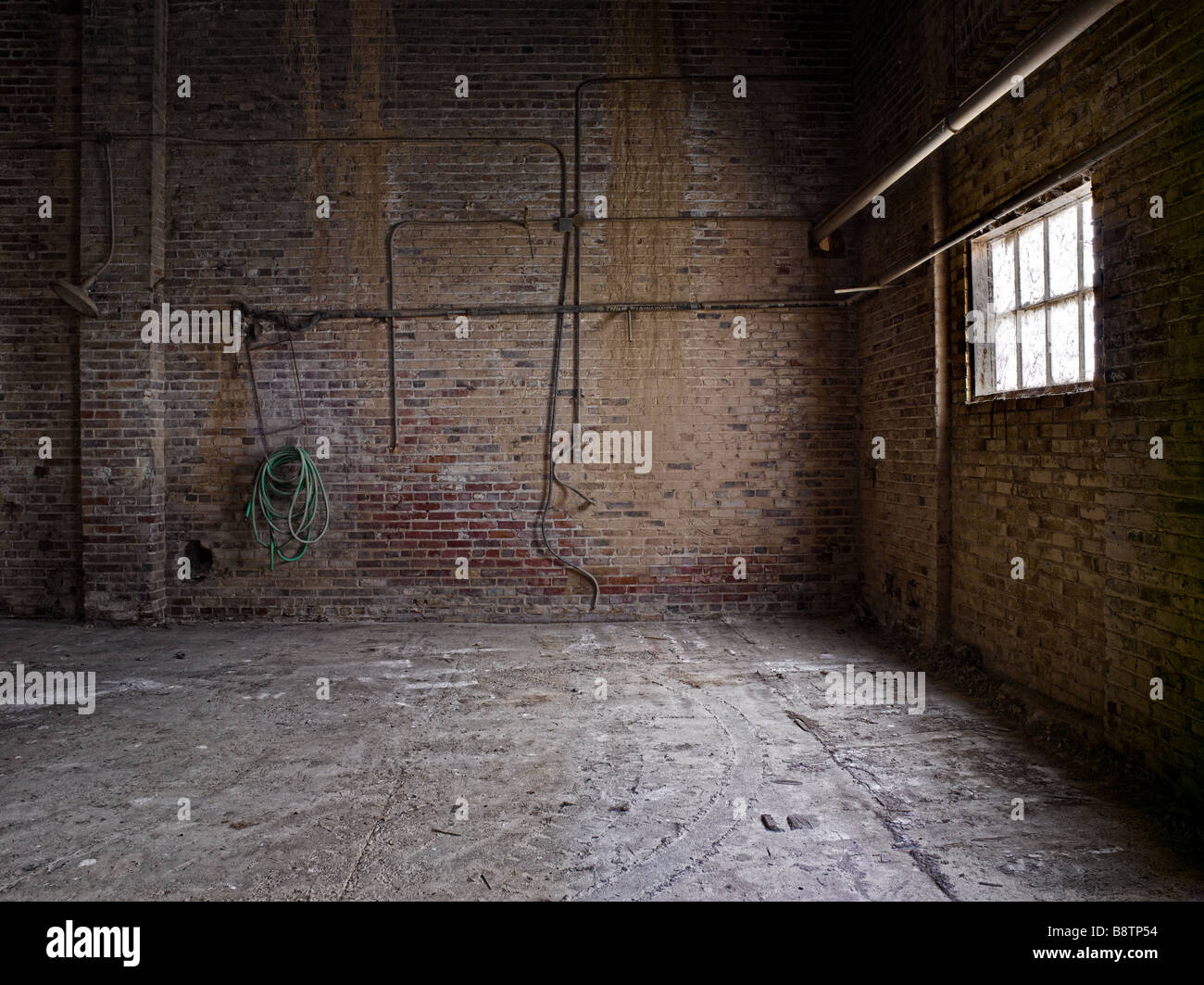Empty Industrial Room With Light