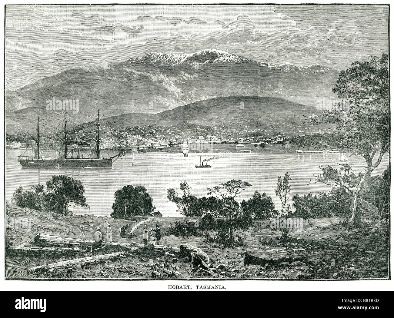 hobart tasmania Hobart is the state capital and most populous city of the Australian island state of Tasmania. Founded - Stock Image