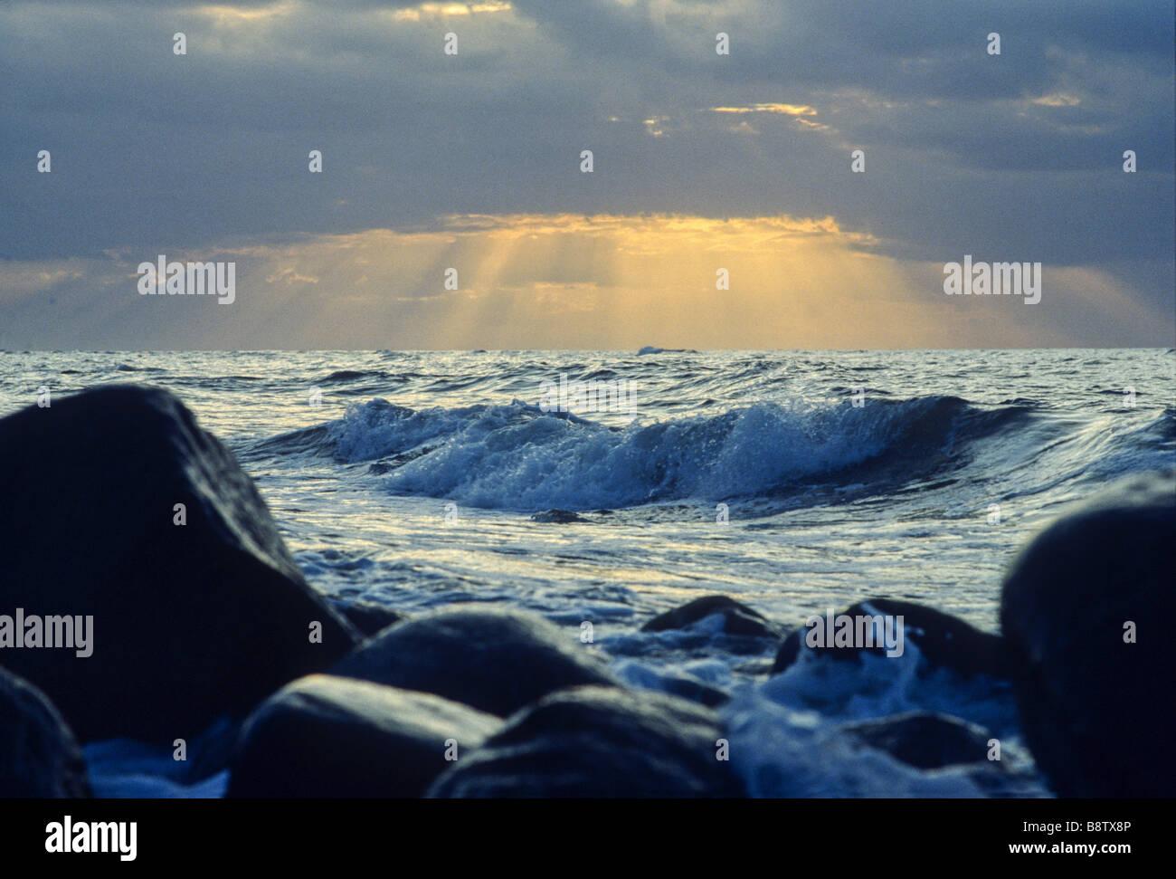 At the North Coast of Zealand, Denmark. - Stock Image