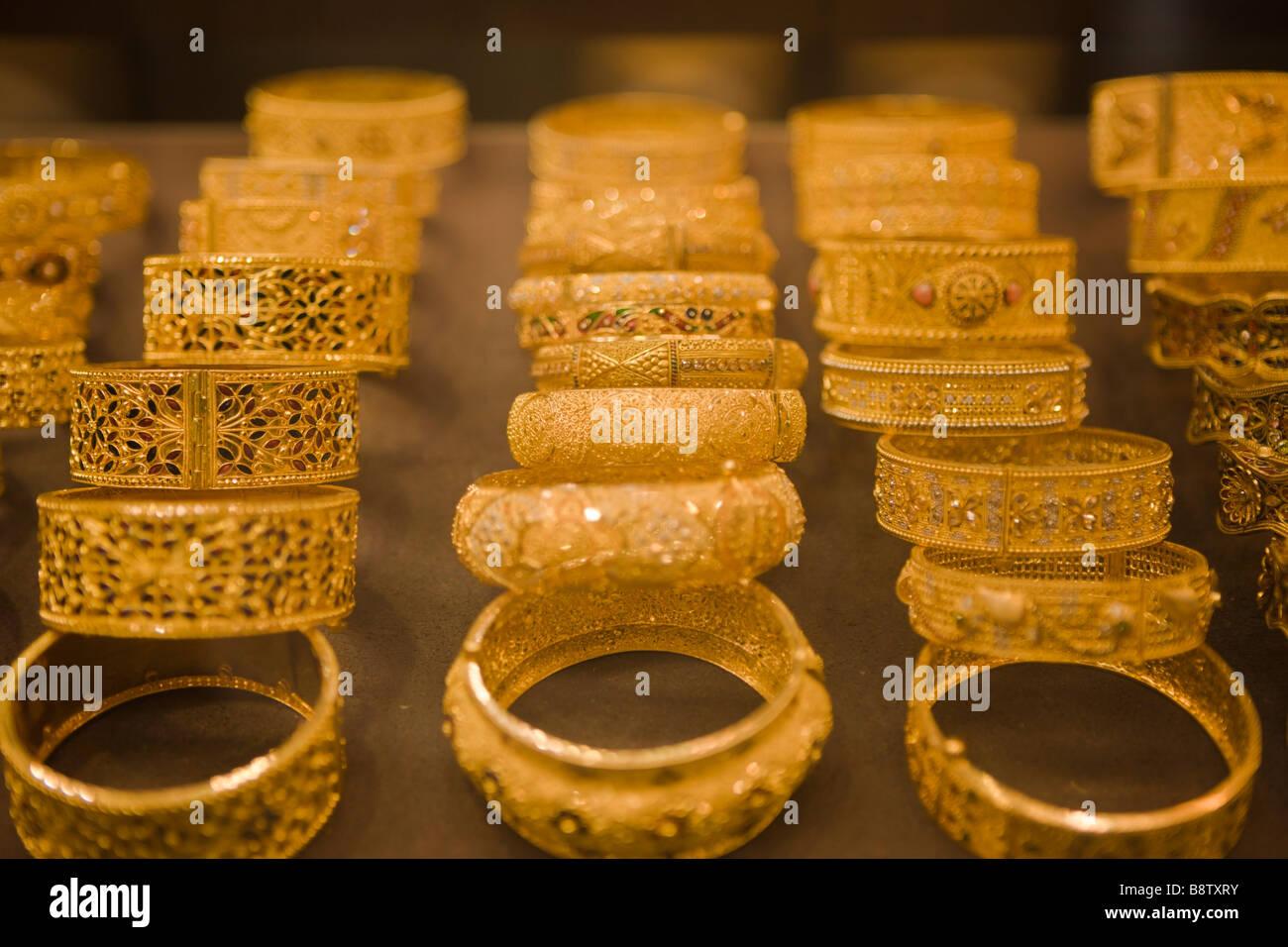 Jewelery at Egyptian Bazaar Istanbul Turkey - Stock Image