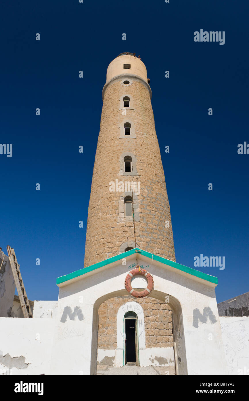 Lighthouse Big Brother Brother Islands Red Sea Egypt - Stock Image