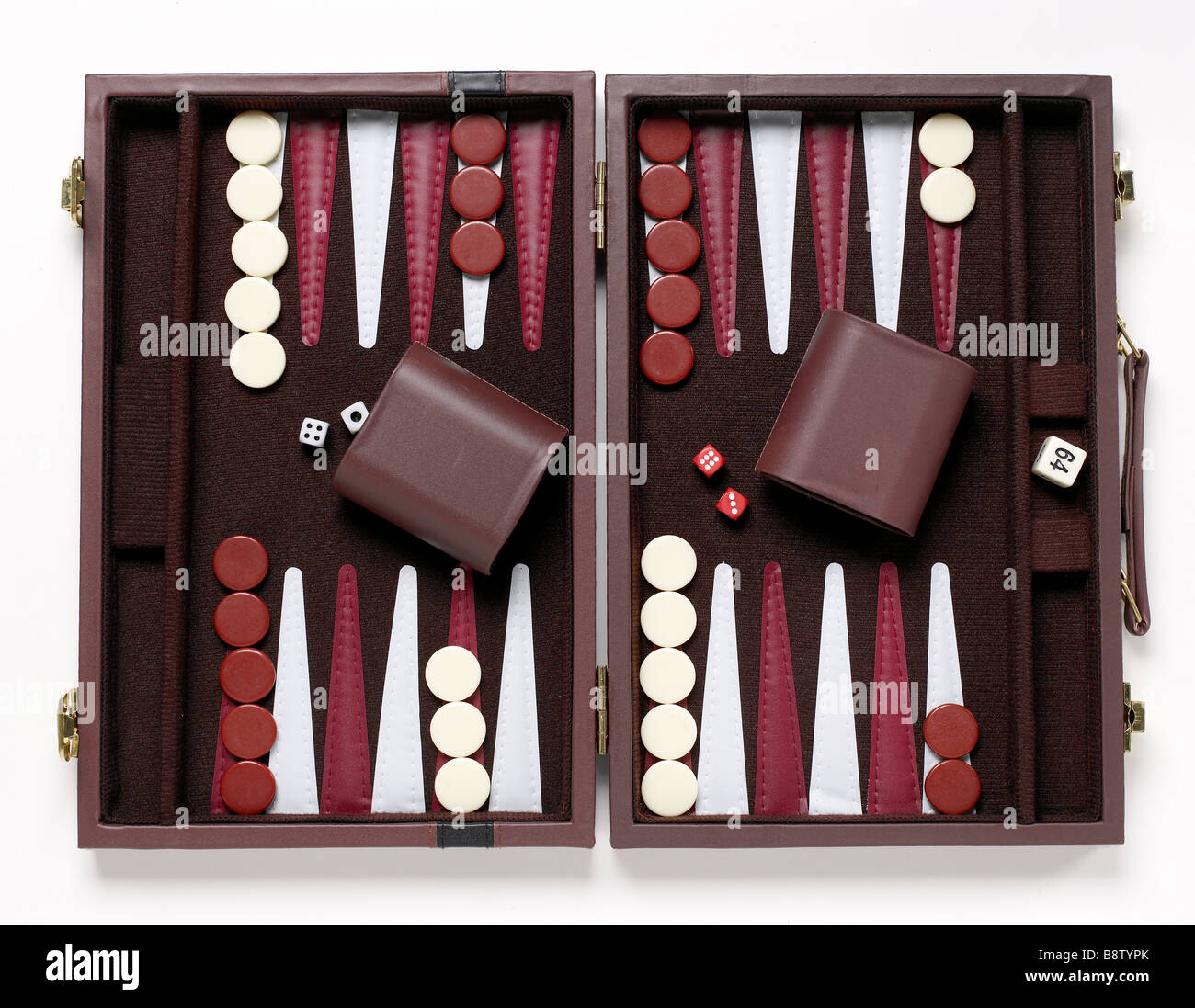 Backgammon Game Elevated View Stock Photo 22676267 Alamy