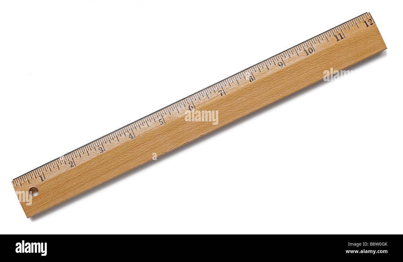 Wooden ruler - Stock Image