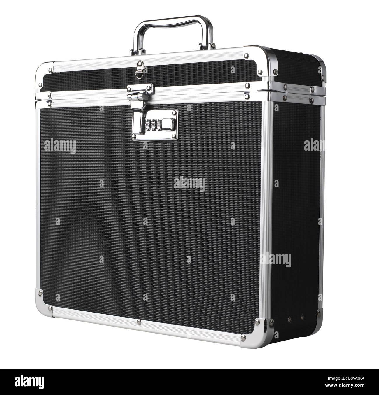 Black Box Case Attaché Briefcase - Stock Image