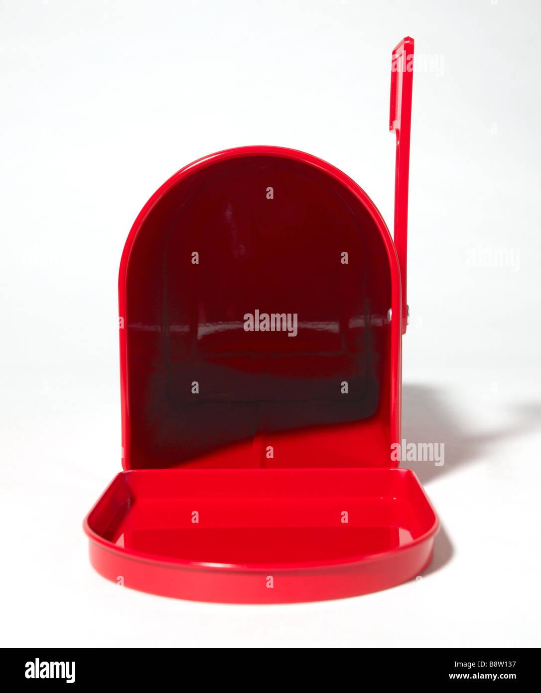 Red mailbox - Stock Image