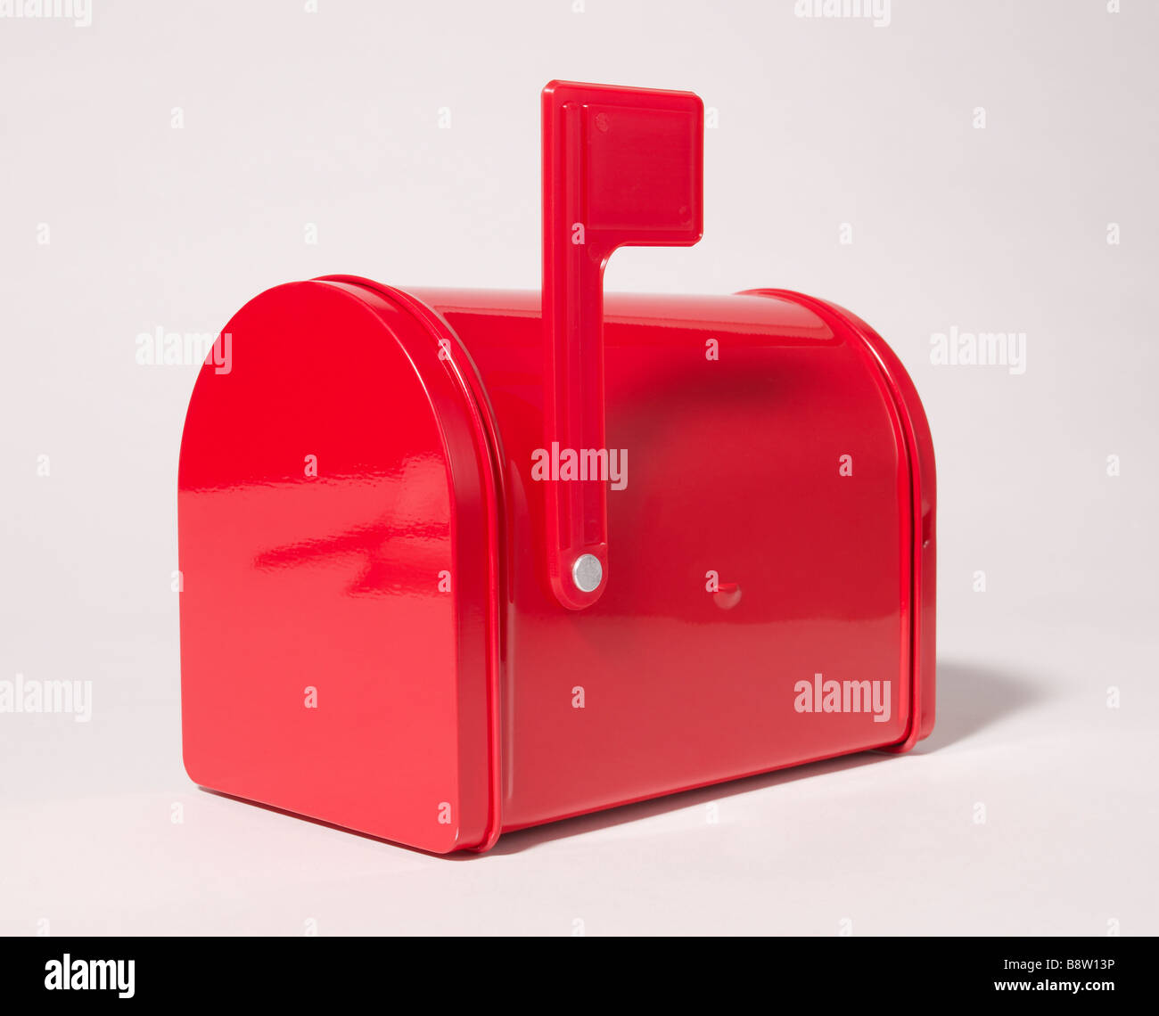 Red mailbox closed - Stock Image