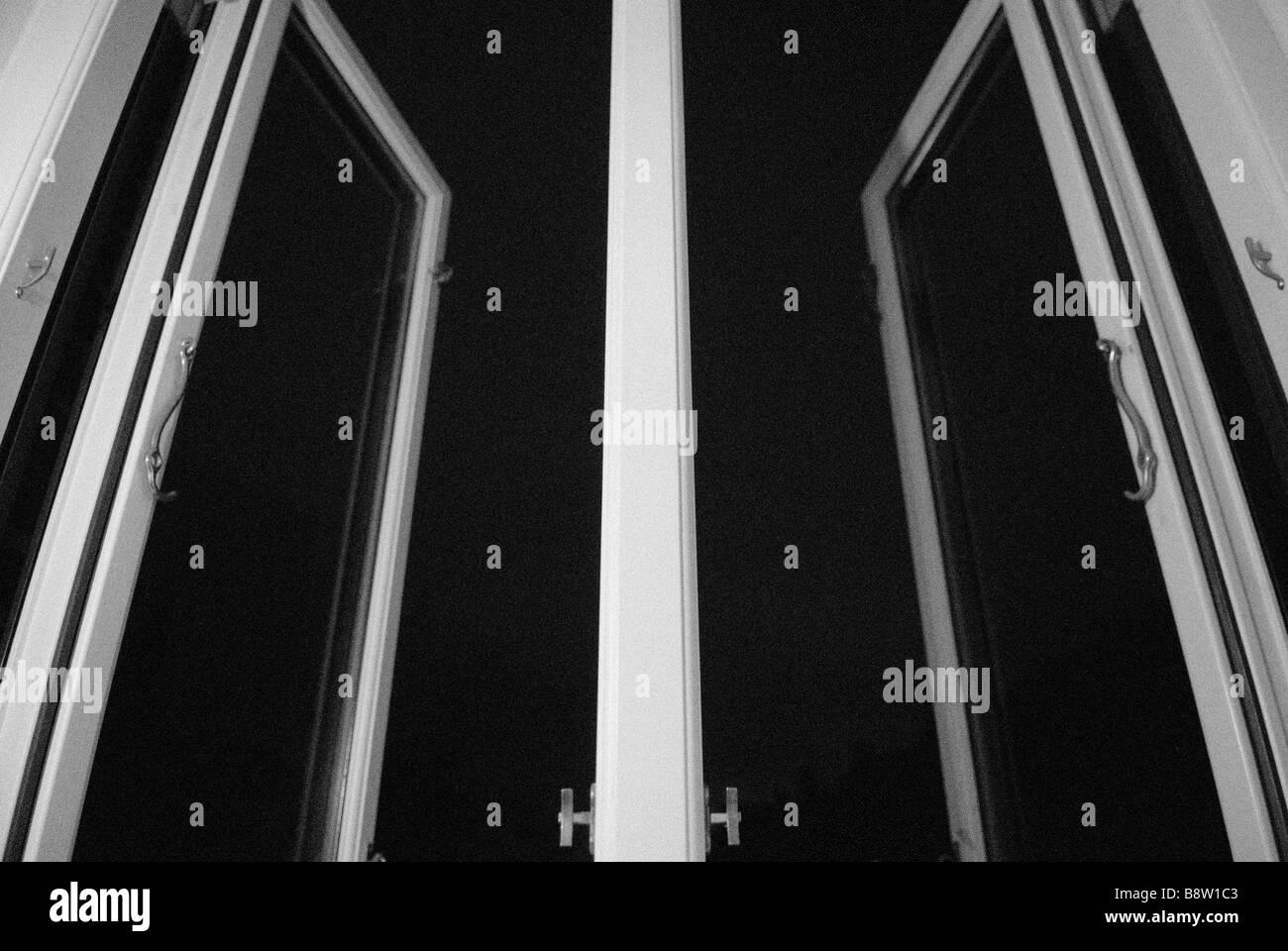 OPENED WINDOWS - Stock Image