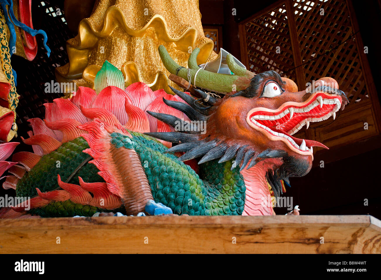 Tiger Cave Temple: Dragon - Stock Image