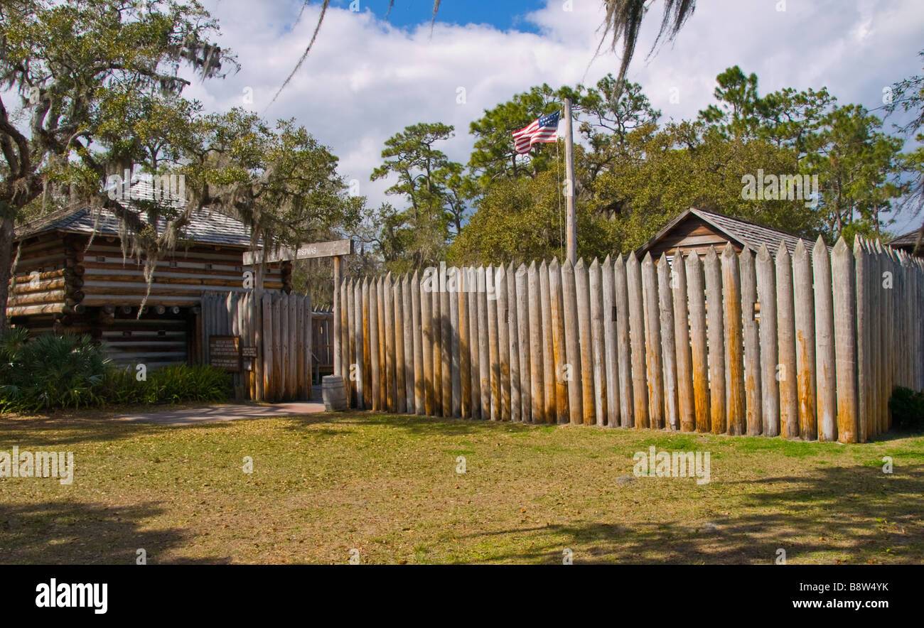 Fort Christmas Florida.Fort Christmas Florida From The Seminole Indian Wars Stock