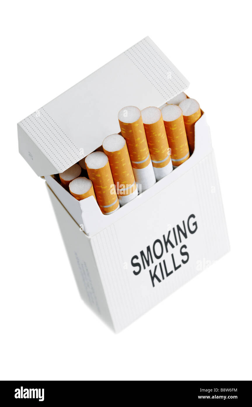 Cigarette Packet Cut Out - Stock Image