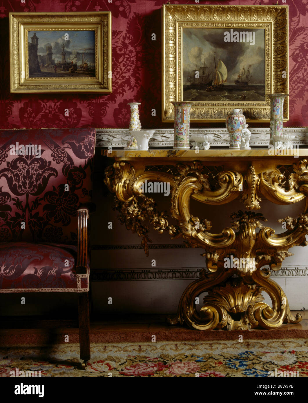Close up of the Cabinet at Felbrigg Hall In Norfolk Stock Photo