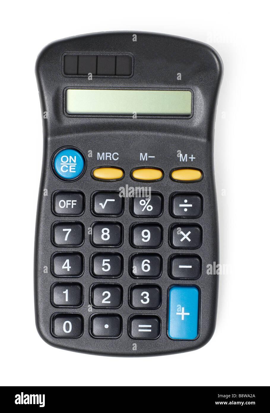black Calculator Calculator mathematical calculations calculation - Stock Image