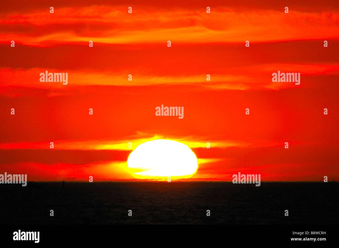 Sunset Florida gulf coast - Stock Image