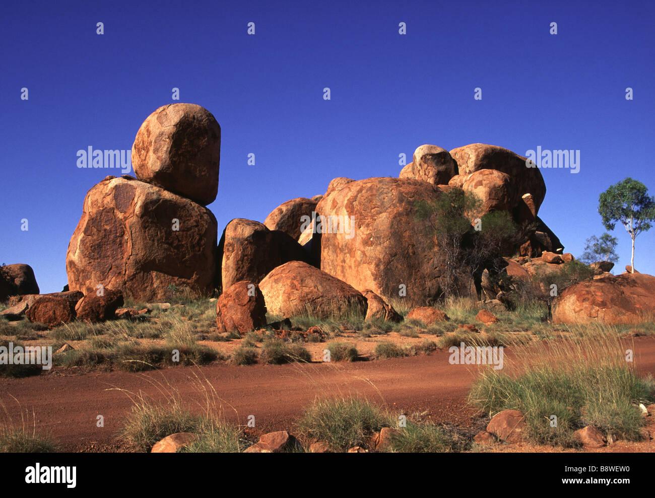Devils Marbles Australia - Stock Image