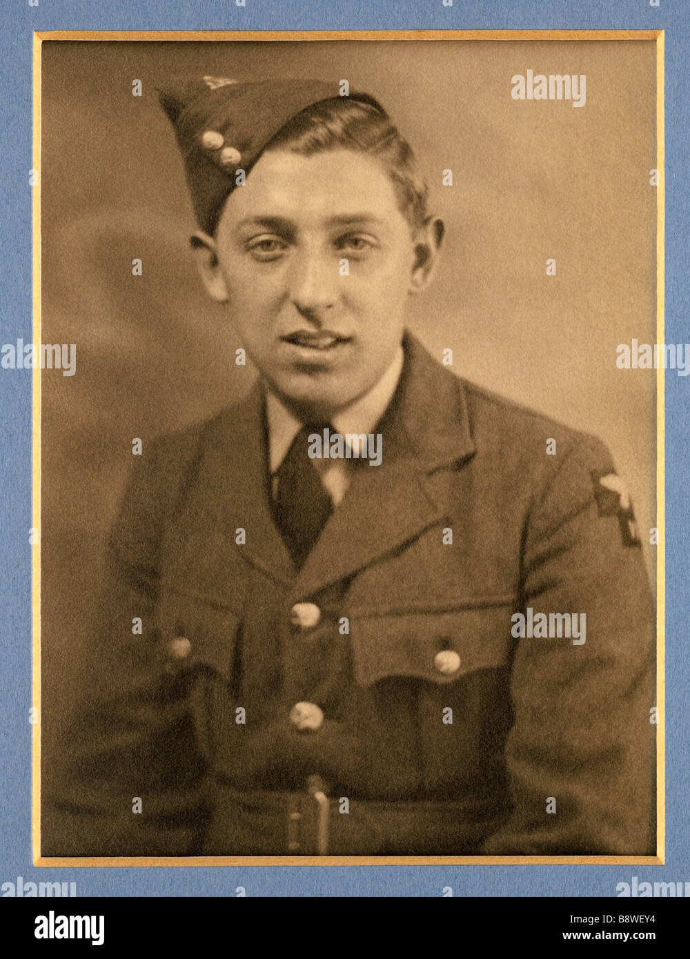 Young man in a British Royal Air Force uniform during the 2nd World War in 1939 - Stock Image