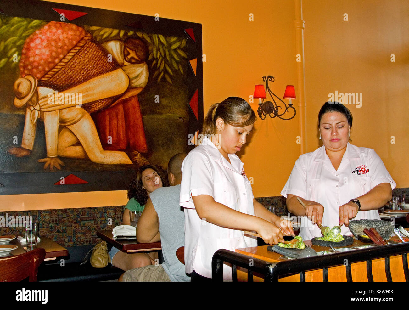 Mexican Restaurant Workers Stock Photo 22688195 Alamy