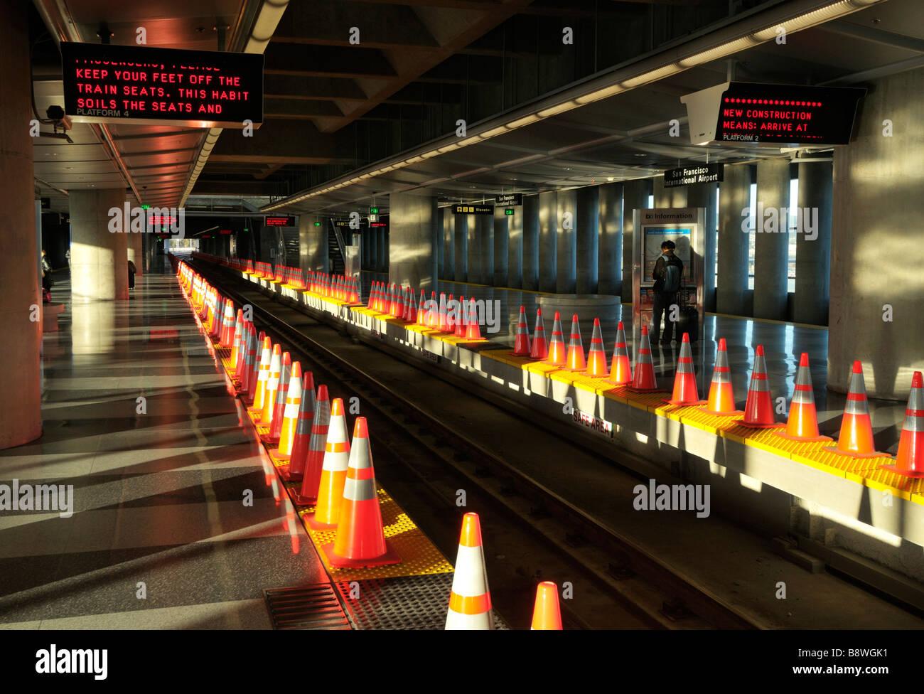 BART Station San Francisco International Airport (SFO/KSFO), California CA - Stock Image
